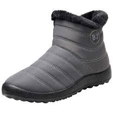 SIKAINI Womens <b>Mens</b> Ankle Snow Boots <b>Anti</b>-<b>Slip Waterproof</b> ...