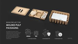Molded Pulp Design Guidelines Benq Projector Molded Pulp Packaging If World Design Guide