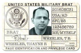 famous fake military id template elaboration exles professional card blank simple fake military id template