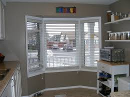 Blinds For Kitchen Windows Window Treatment Ideas With Wood Blinds Home Intuitive