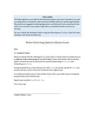 36 Best Lease Renewal Letters Forms Word Pdf