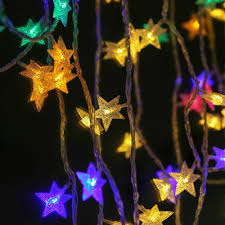 Outdoor Holiday Lights 2 5m 20heads 4m 40heads Stars Led String Landscaping Room Decorative Lights Neon Waterproof Outdoor Holiday Lights Lh8s