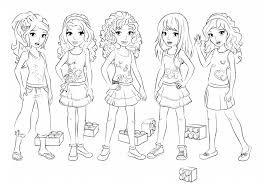 Lego Friends Coloring Pages All Characters Coloringstar