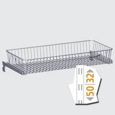 telescopic metal basket shelves and