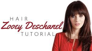 zooey deschanel bangs tutorial thesalonguy