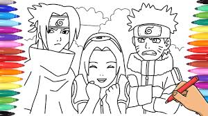 34 naruto pictures to print and color watch naruto episode more from my sitemy little pony coloring pagespower rangers coloring naruto coloring pages. Naruto Coloring Pages Watch How To Draw Naruto Sasuke And Sakura With Coloring Markers Youtube