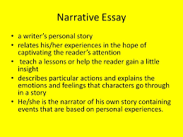 narrative essay lesson learned