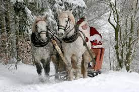 Images Horses Christmas Sled Santa ...