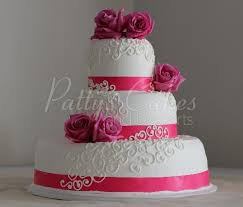 Simple 3 Tier Wedding Cake Archives Pattys Cakes And Desserts