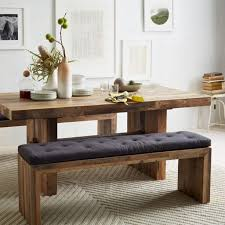 Wooden Dining Room Benches Emmerson Reclaimed Wood Dining Bench West Elm  Best Ideas