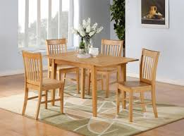 Light Oak Kitchen Chairs Carina Bengs Style Dinette Decor With 5 Pieces Low Cost Solid