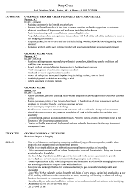 Grocery Manager Resume Grocery Clerk Resume Samples Velvet Jobs 1