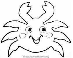 Crabe 5 Animaux Coloriages Imprimer