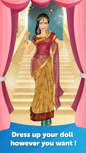 indian bride dress up fun doll makeover game screenshot 2