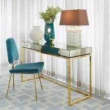 mirrored office furniture. Delphine Desk - Alt Image 6 Mirrored Office Furniture