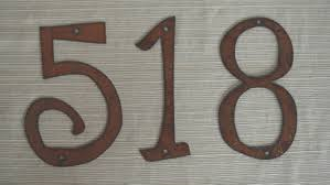 Decorative House Numbers Decorative Rustic Metal Letters Rustic Metal Letters Wall Decor