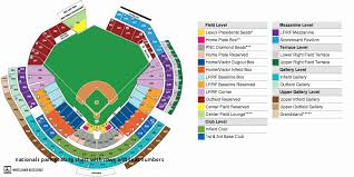 Nationals Park Seating Chart With Rows And Seat Numbers Best