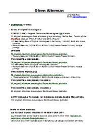 Download Literary Resume (PDF)