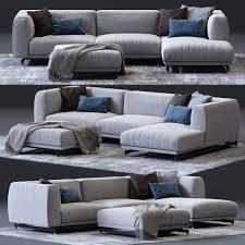 3d et ditre italia st germain corner sofa 02