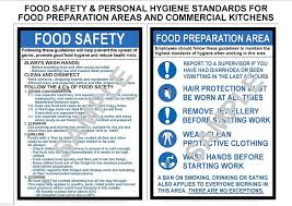 health safety x a laminated commercial kitchen signs food health safety 2 x a3 laminated commercial kitchen signs food personal hygiene amazon co uk business industry science