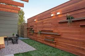 Modern Wood Fence Ideas