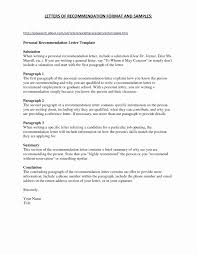 Military Letter Recommendation Military Letter Of Recommendation Template Collection
