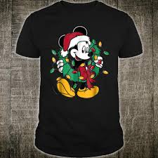Mickey Christmas Lights Disney Mickey Mouse Christmas Lights Shirt