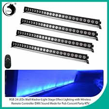 H Tek Lighting 4x Rgb 24 Led 72w Wall Washer Light Stage Effect Lighting With Remote Controller