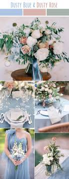 dusty blue and rose pink spring and summer wedding colors