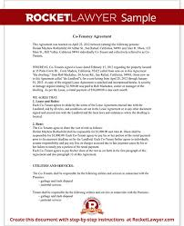 How Do You Make A Lease Agreement Extraordinary Co Tenancy Agreement 48 Main Group