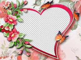 photo frame psd png heart for you