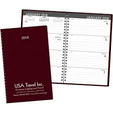 promotional 2018 classic weekly desk planners with custom logo for 4 42 ea