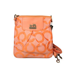 Coach Logo C Monogram Small Orange Crossbody Bags EQL