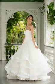 elegant a line strapless sweetheart lace organza wedding dress