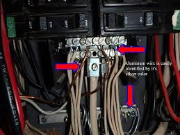 aluminum wiring is easily identified by it s silver color