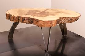 hand made coffee table live edge maple weathered steel visual wood end tables custom dress form