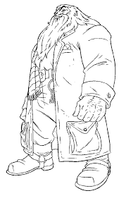 Harry Potter Coloring Picture Of Rubeus Hagrid The Half Giant