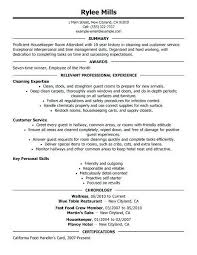 Housekeeping Resume Examples Examples Of Resumes
