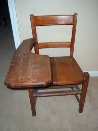 vintage wood desk chair school old wooden