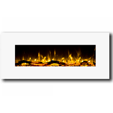 electric log heater for fireplace. Regal Flame Ashford 50 Inch White Ventless Heater Electric Wall Mounted Fireplace - Log For