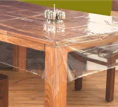 60 x 90 rectangle clear transpa dining table cover
