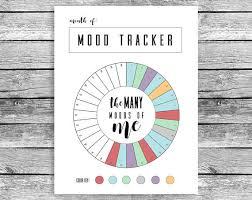 Monthly Mood Tracker Circle Fits Happy Planner Classic