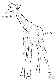 Small Picture Cute Cartoon Baby Giraffe coloring page Free Printable Coloring