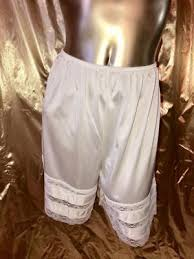 Velrose White Petti Pant Knickers Bloomers Size L 102120