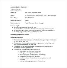 Administrative Assistant Job Summary Resume Best Of Administrative Assistant Duties Resume Job Description For Clerk