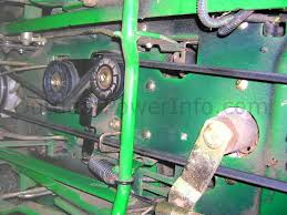 installation repair and replacement of john deere lx266 hydro john deere lx266 hydro drive belts overall view