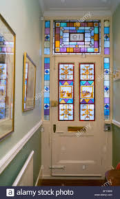 stained glass front door decorative victorian taken from interior