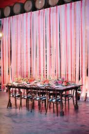 fancy wall decoration with ribbons