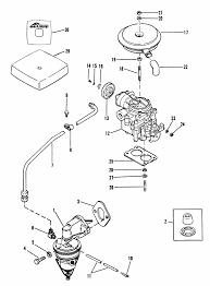 mercruiser 3 0l gm 181 i l4 1987 1989 fuel pump carburetor engine section
