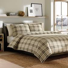com ed bauer edgewood plaid duvet cover set full queen khaki home kitchen